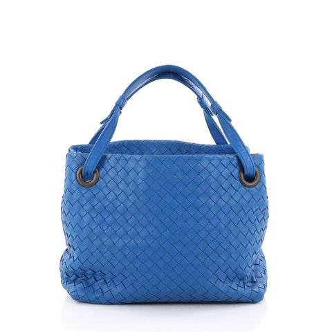 Buy Bottega Veneta Bella Tote Intrecciato Nappa Small Blue 2802601 – Rebag 62dcd4f73a637