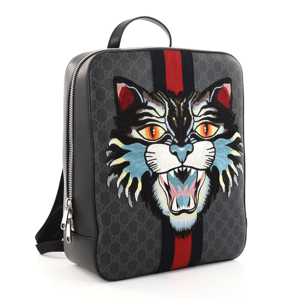 d57cb8248 Buy Gucci Angry Cat Web Backpack GG Coated Canvas with 2803201 – Rebag