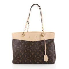 Louis Vuitton Pallas Shopper Monogram Canvas and Calf Leather Brown 2804901