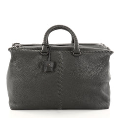 Bottega Veneta Brick Bag Leather with Intrecciato Detail Large Green 2806903