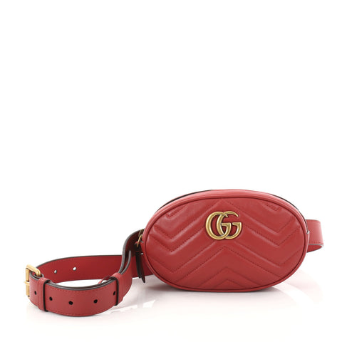 2497671e058e Buy Gucci GG Marmont Belt Bag Matelasse Leather Red 2809101 – Rebag