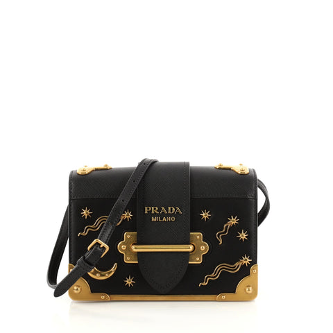 Buy Prada Cahier Crossbody Bag Embellished Leather Small 2809402 – Rebag 9caf696bc23fd