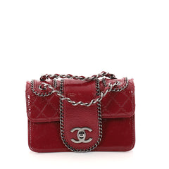 Chanel Madison Flap Bag Quilted Patent Small Red 2814201