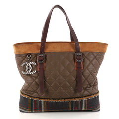 Chanel Paris-Edinburgh Tote Quilted Mixed Leather with 2814701