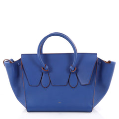 Celine Tie Knot Tote Smooth Leather Large Blue 2816401