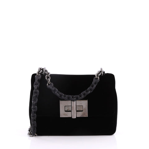 238da2c1b68c Buy Tom Ford Natalia Chain Shoulder Bag Velvet Small Black 2821901 – Rebag