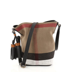 Burberry Ashby Handbag House Check Canvas Mini Brown 2822801