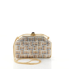 Judith Leiber Minaudiere Crystal Small Gold 2823002