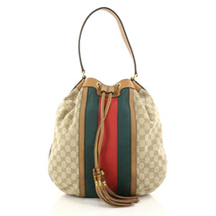 Gucci Rania Shoulder Bag Web GG Canvas Brown 2823501