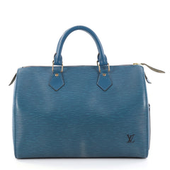 Louis Vuitton Speedy Handbag Epi Leather 30 Blue 2828703