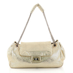 Chanel Drill Accordion Flap Bag Perforated Leather Large 2828901