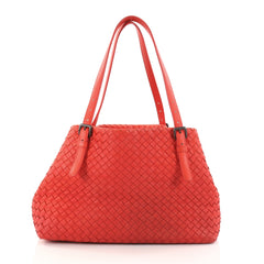 Bottega Veneta A-Shape Tote Intrecciato Nappa Medium Red 2829801