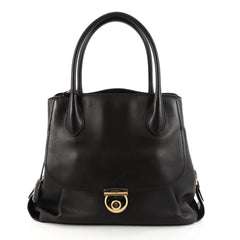 Salvatore Ferragamo Fiamma Tote Leather North South Black 2830501