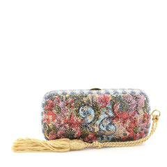 Judith Leiber Floral Minaudiere Crystal Small Blue 2835019