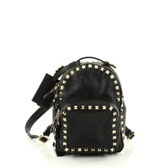 Valentino Rockstud Backpack Leather Mini Black 2838502