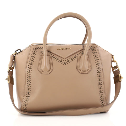 614883ee5113 Buy Givenchy Antigona Bag Studded Leather Small Neutral 2842401 – Rebag