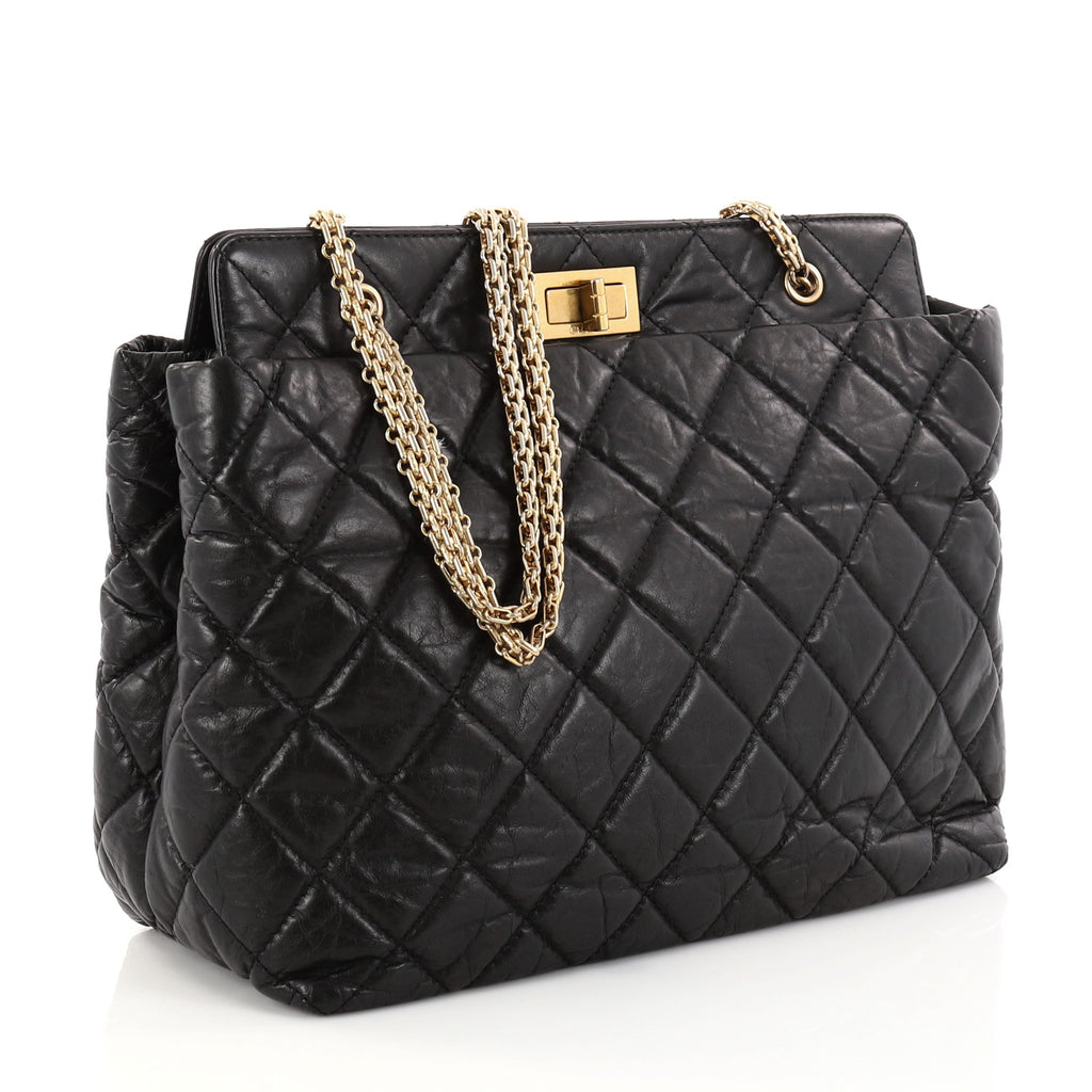 65462dfc8feb Buy Chanel Reissue Tote Quilted Aged Calfskin Large Black 2844808 ...
