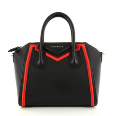 Givenchy Antigona Bag Leather with Embroidered Fabric Trim Small Black 2846901