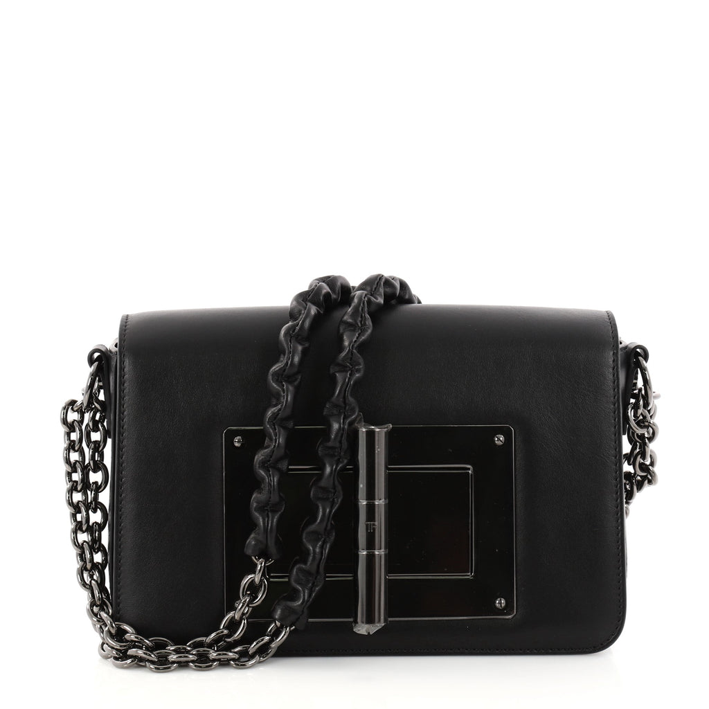 0679aecd2b9c Buy Tom Ford Natalia Chain Shoulder Bag Leather Small Black 2850801 ...