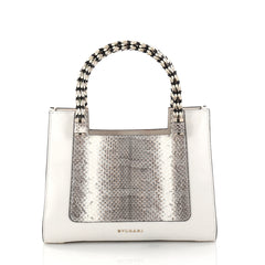 Bvlgari Serpenti Convertible Tote Leather and Python Small White 2854201