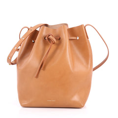 Mansur Gavriel Bucket Bag Leather Large Brown 2859102