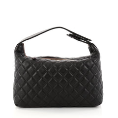 Chanel CC Zip Hobo Quilted Lambskin Small Black 2859601