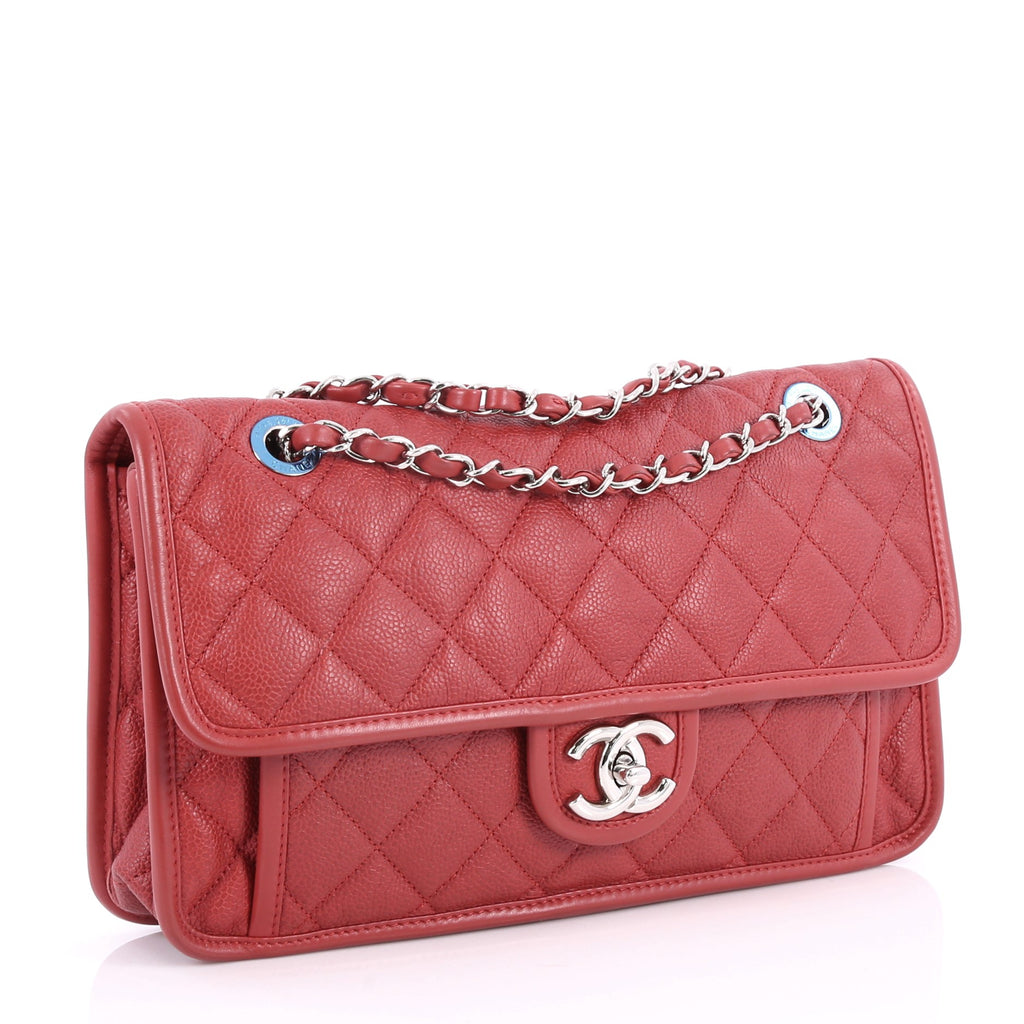014b8dba4b Buy Chanel French Riviera Flap Bag Quilted Caviar Medium Red 2863301 ...