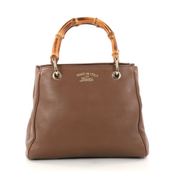 Gucci Bamboo Shopper Tote Leather Small Brown 2865503