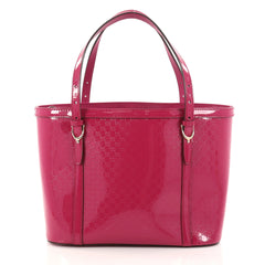 Gucci Nice Tote Patent Microguccissima Leather Small Pink 2869403