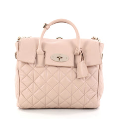 Mulberry Cara Delevingne Convertible Backpack Quilted Leather Medium Pink 2871601