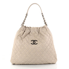 Chanel CC Elastic Shoulder Bag Quilted Caviar Large 2872802