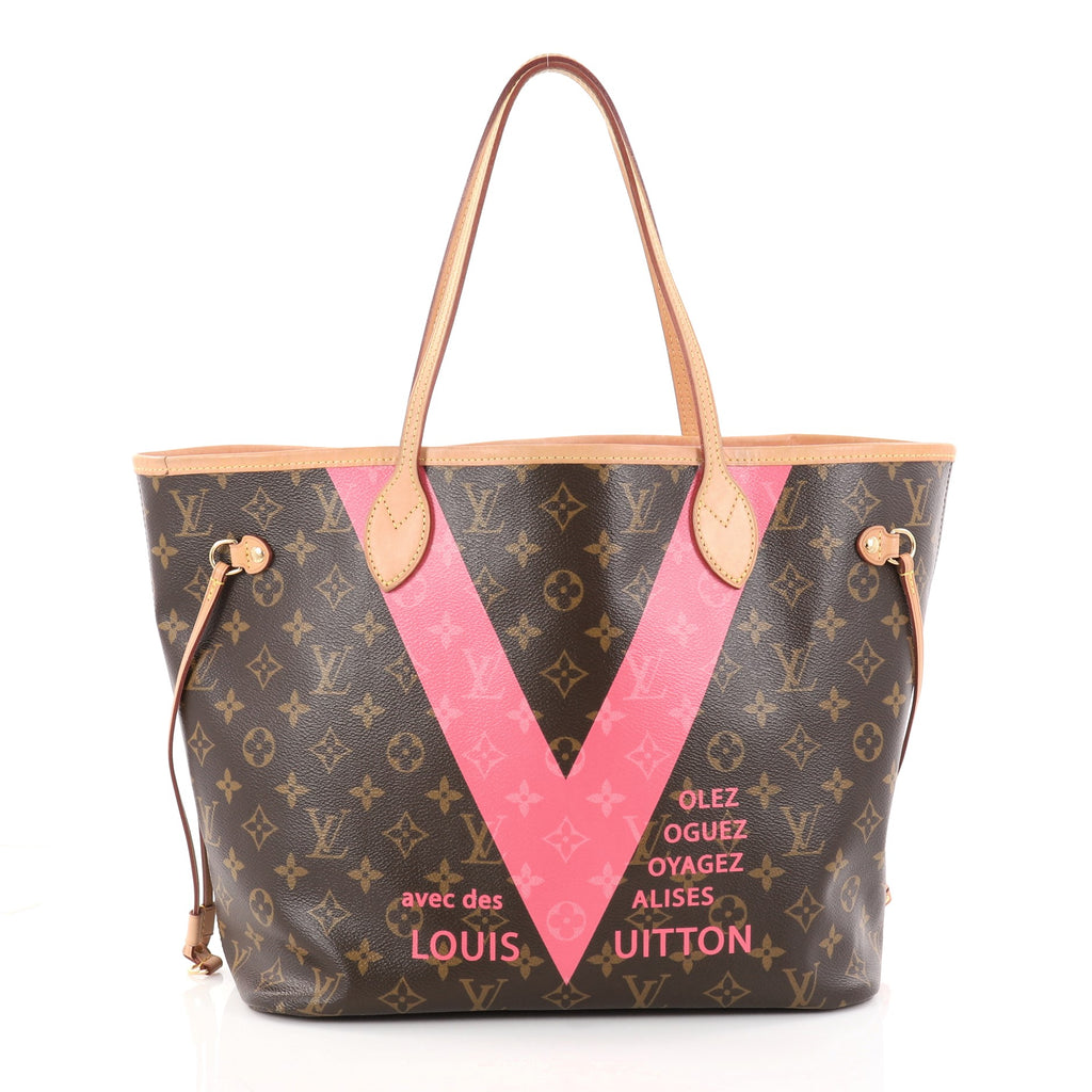 7d83789fb6fb Louis Vuitton. Neverfull NM Tote Limited Edition Cities V Monogram Canvas MM