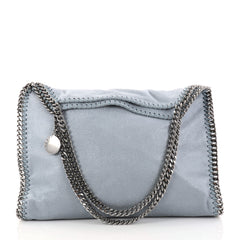 Stella McCartney Falabella Tote Shaggy Deer Small Blue 2876901