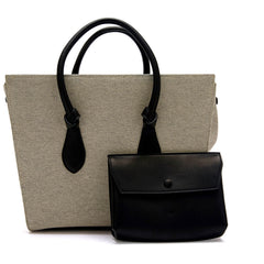 Celine Tie Tote Canvas Large