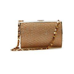 Devi Kroell Carlyle Clutch Python With Chain Strap