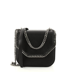Stella McCartney Falabella Box Shoulder Bag Faux Leather Mini Black 2880901
