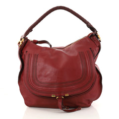 Chloe Marcie Hobo Leather Large Red 2881602