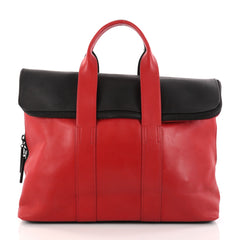 3.1 Phillip Lim 31 Hour Fold-Over Tote Leather Red 2886101
