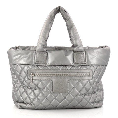 9e2f7488f7ba7f Buy Chanel Coco Cocoon Zipped Tote Quilted Nylon Large 2887604 – Rebag