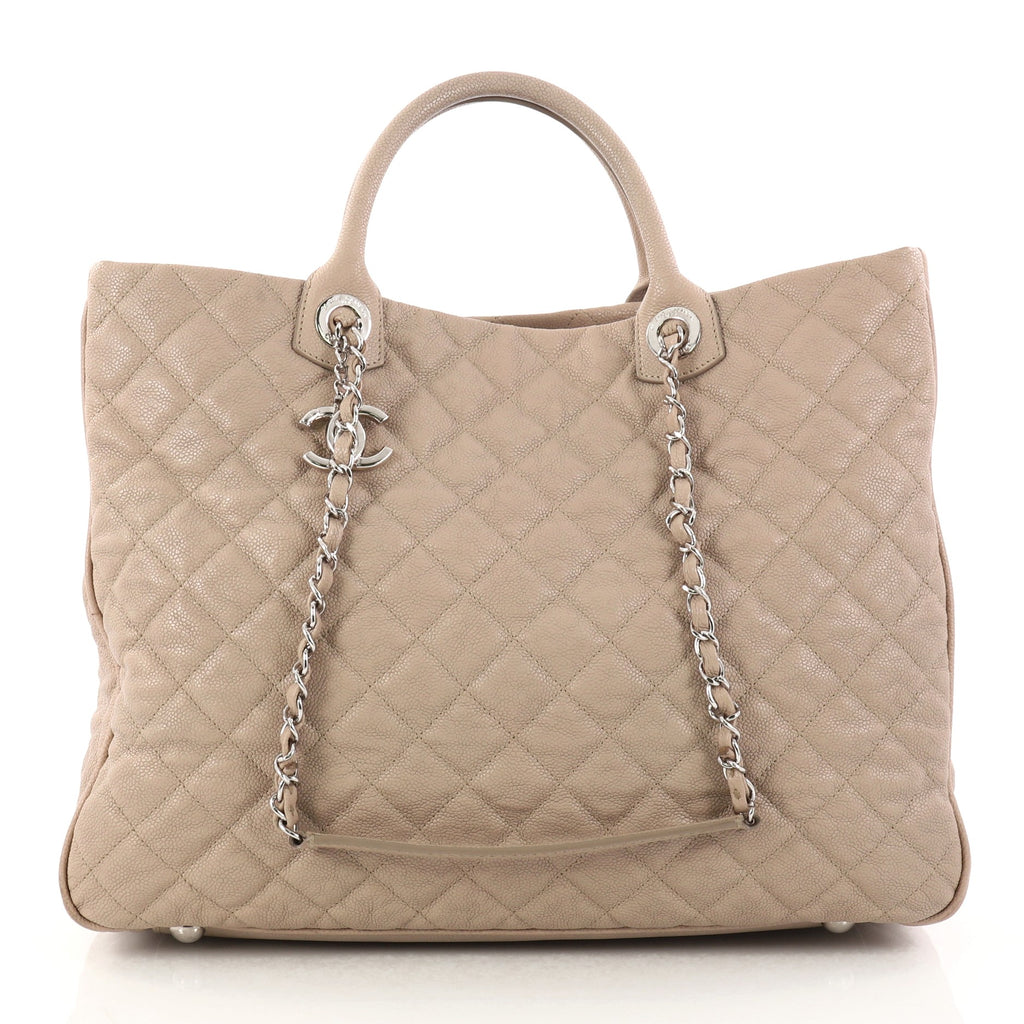 93727d168a6e Buy Chanel Shiva Tote Quilted Caviar Large Neutral 2888401 – Rebag
