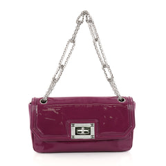 Chanel Reissue Chain Shoulder Bag Patent Medium Purple 2893703