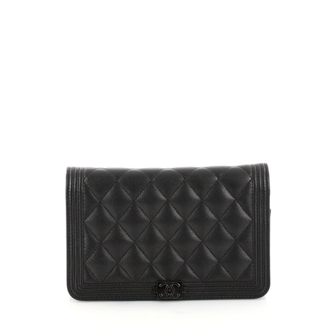 069d0720605c Buy Chanel So Black Boy Wallet on Chain Quilted Caviar Black 2896602 – Rebag