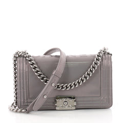 Chanel Reverso Boy Flap Bag Glazed Iridescent Calfskin Old Medium Purple 2902606