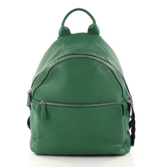 Fendi Selleria Backpack Leather with Crocodile Embossed green 2903401