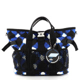 Chanel Airlines Mesh Tote Printed Nylon Blue 2907801