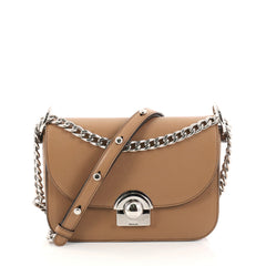 Prada Arcade Chain Crossbody Glace Calf Brown 2909102