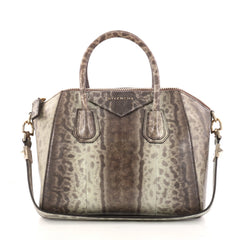 Givenchy Antigona Bag Snakeskin Small Brown 2918501