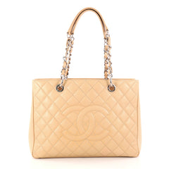 Chanel Grand Shopping Tote Quilted Caviar Neutral 2921202