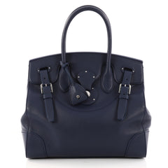 Ralph Lauren Collection Soft Ricky Handbag Leather 33 Blue 2922701