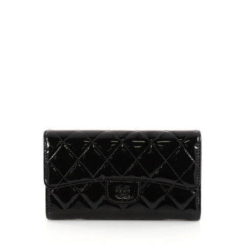 81bb3dbaa2befd Buy Chanel L Flap Wallet Quilted Patent Long Black 2928801 – Rebag